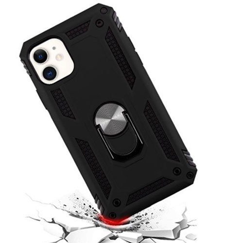 Iphone 11 Finger Loop Armor Hybrid Case | black