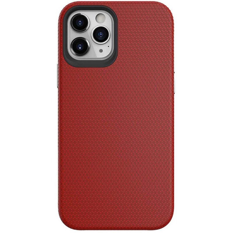 iphone 12 Pro Max Silicon Rubber Case | Red