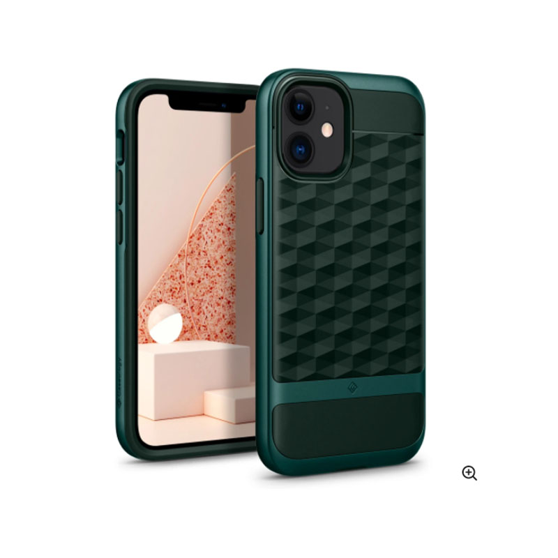 iPhone 12 / 12 Pro Parallax Case Midnight Green | Caseology