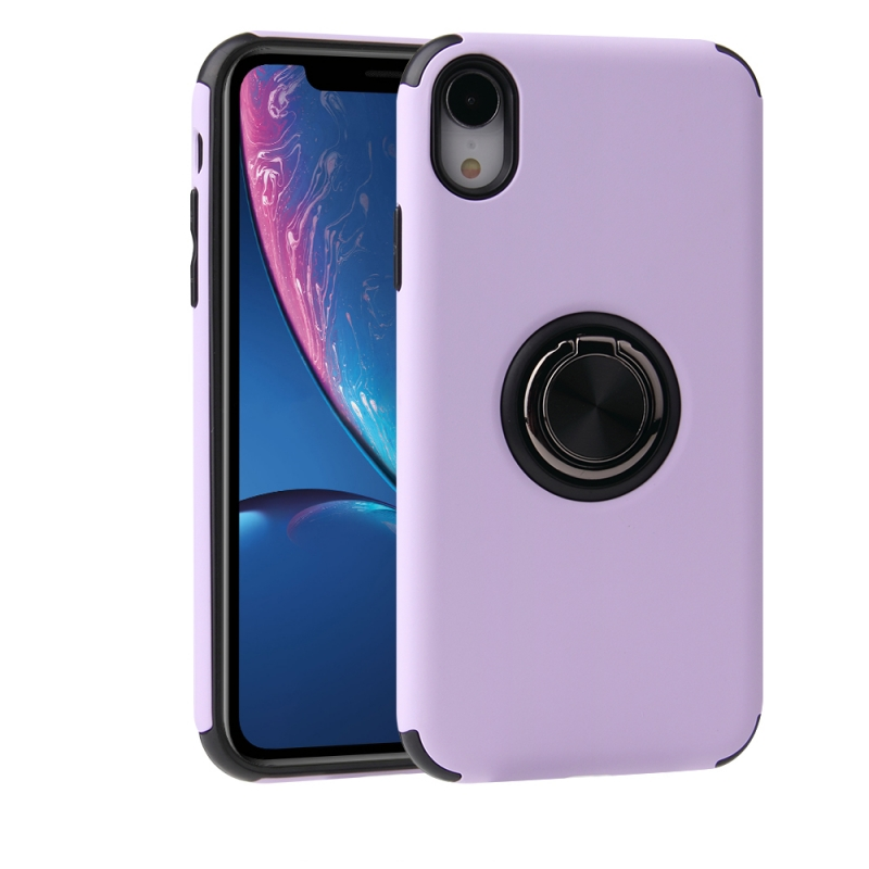 iPhone XR Magnetic Ring Holder Cover PURPLE