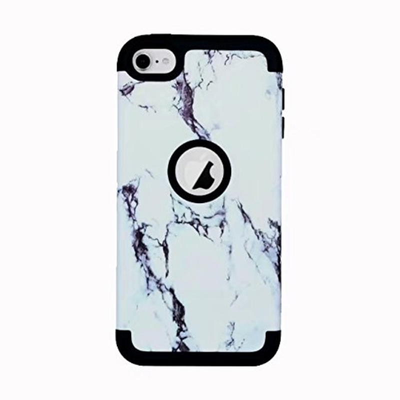 iPod Touch (5th/6th Generation) Hybrid Protector Marble Pattern Cover Black/White