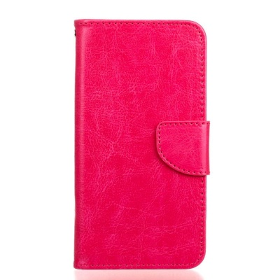 Nokia Lumia 640 PU Leather Wallet Case Pink