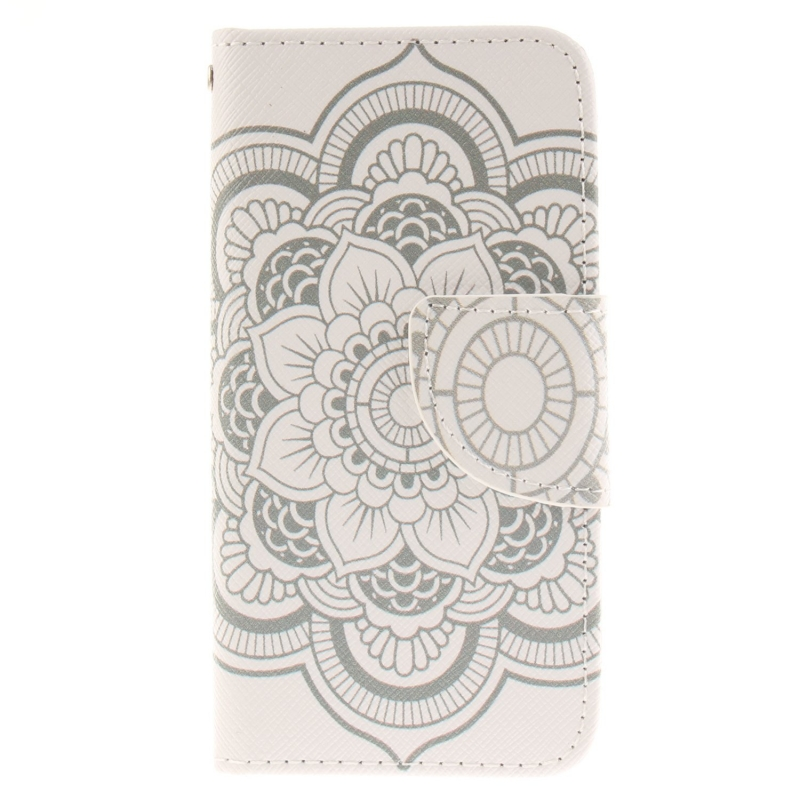 iPod Touch (5th/6th Generation) Wallet Case |White Mandala