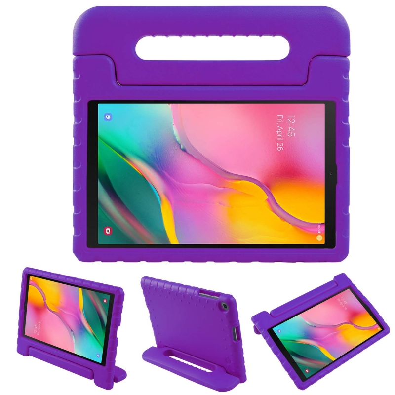 Samsung Galaxy Tab A Case 10.1(2019) SM-T510 Case for Kids Cover with Stand Purple