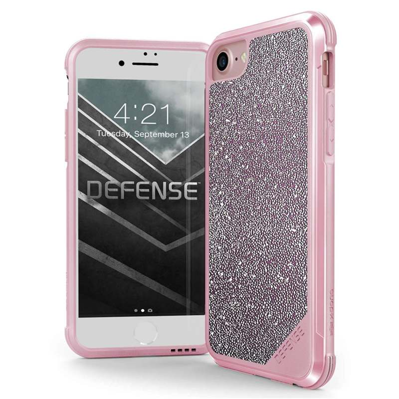iPhone SE (2nd Gen) and iPhone 6/7/8 Case X-Doria Lux Series - Pink Glitter