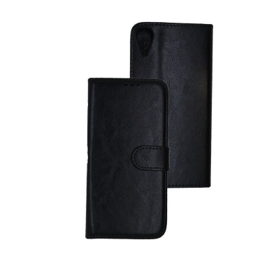 HTC 825 PU Leather Wallet Case Black