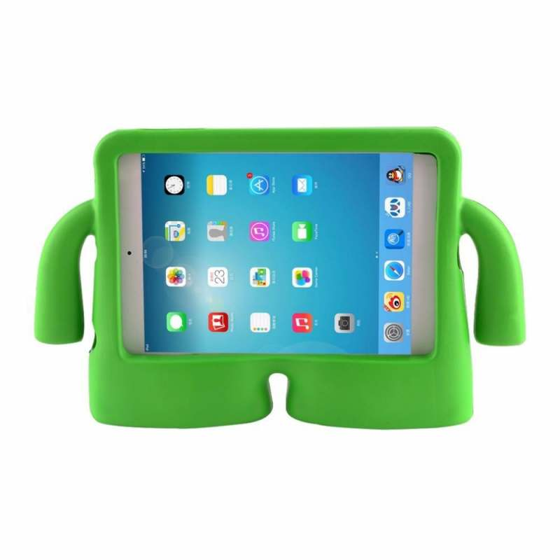 Samsung Tab A T580 Case for Kids Rubber Shock Proof Cover with Carry Handle Green