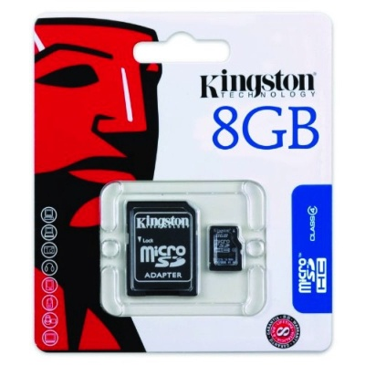 Kingston 8GB SD SDHC Class 4 Memory Card