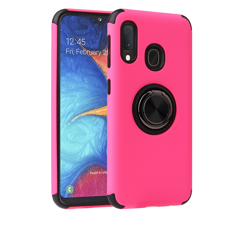 Samsung Galaxy A20e Magnetic Ring Holder Cover HotPink