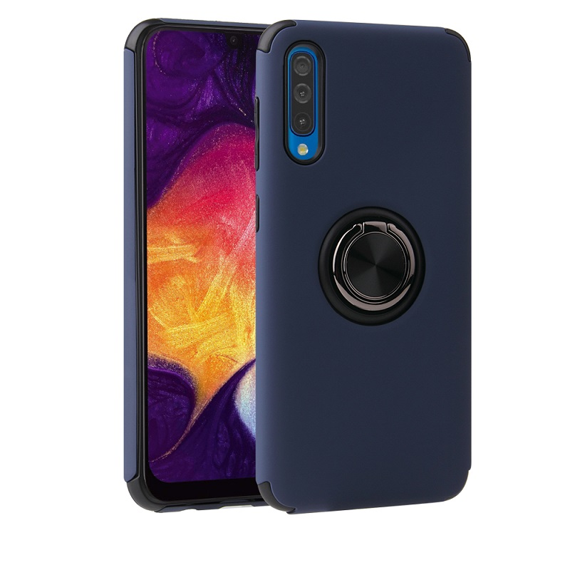 Samsung Galaxy A50 Magnetic Ring Holder Cover Blue