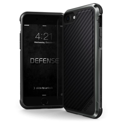 iPhone 7 / iPhone 8 Case X-Doria Defence LUX Series- BlackCarbon