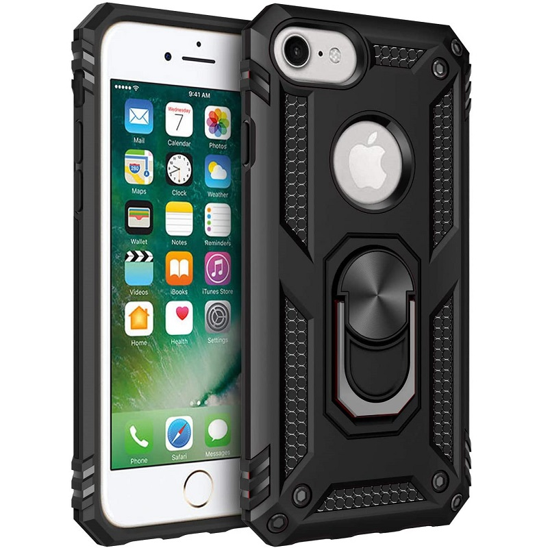 iPhone SE (2nd Gen) and iPhone 6/ 7 /8 Ring Armor Cover - Black