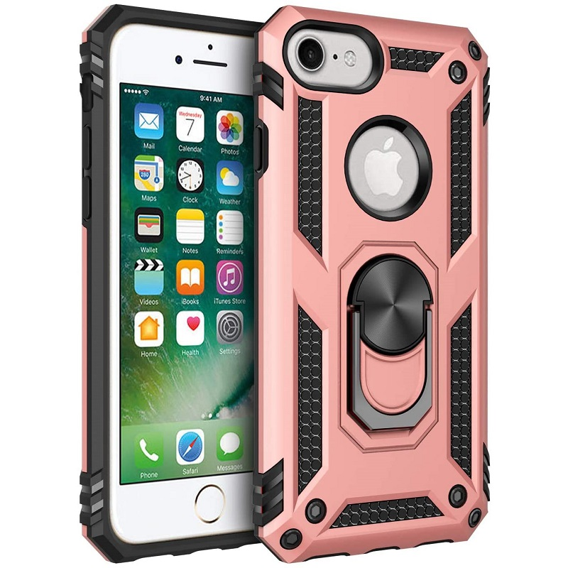 iPhone SE (2nd Gen) and iPhone 6/ 7 /8 Ring Armor Cover - Rosegold