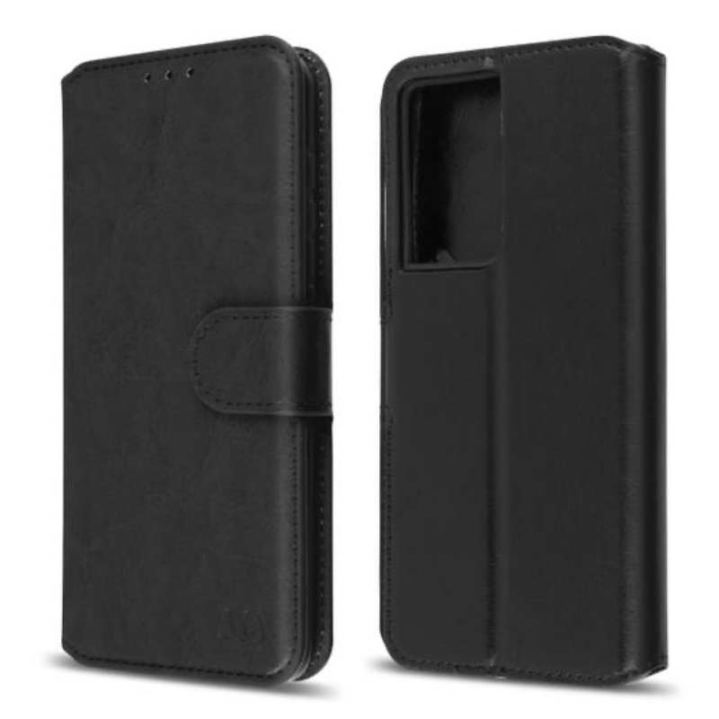 Samsung Galaxy S21 Ultra Mybat  Wallet Case | Black