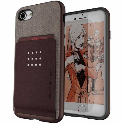 iPhone 7 / iPhone 8 Case Ghostek Exec 2- Series Brown