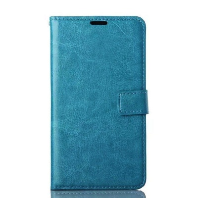 Samsung Galaxy Note 4 PU Leather Wallet Case Blue