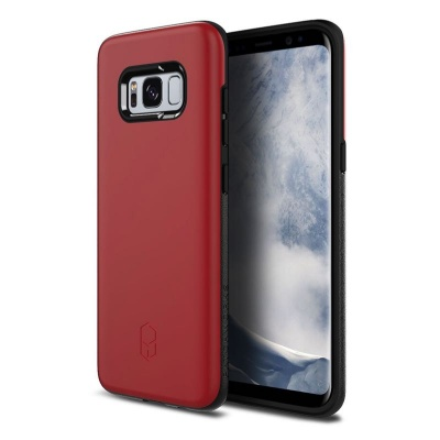 Samsung Galaxy S8 Plus Patchwork Level ITG Series Case Red