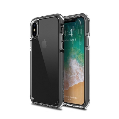 iPhone X Case Patchwork Lumina Ex Series  Grey