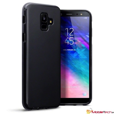 Samsung Galaxy A6-2018 TPU Silicon Back Phone Cover|Black