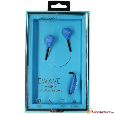 USAMS  Ewave series - Color Beans In-ear Earphone - Blue