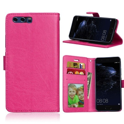 Huawei P10 PU Leather Wallet Case  Pink