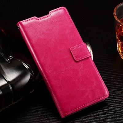Huawei P8 Lite PU Leather Wallet Case Pink