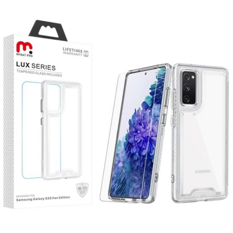 ​Samsung Galaxy S20 FE LUX SERIES CASE WITH TEMPERED GLASS | Clear