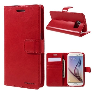 Samsung Galaxy S6 Bluemoon Wallet Case Red