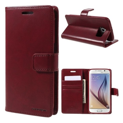 Samsung Galaxy S6 Bluemoon Wallet Case Wine