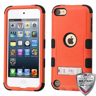 iPod Touch (5th/6th Generation) MYBAT Natural TUFF Hybrid Protector Cover Orange (With Stand)