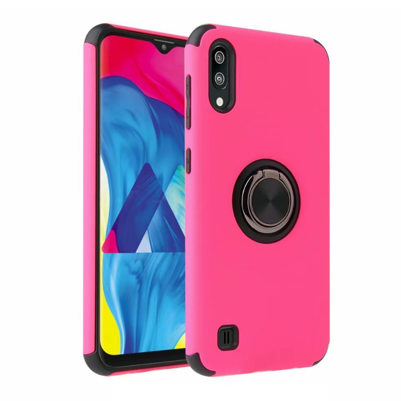 Samsung Galaxy A10 Magnetic Ring Holder Cover Hot Pink