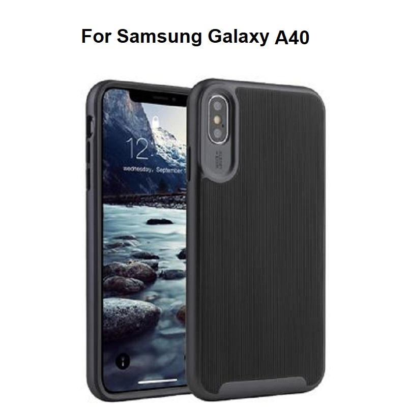 Samsung Galaxy A40 Wavelength Shockproof Case | Black