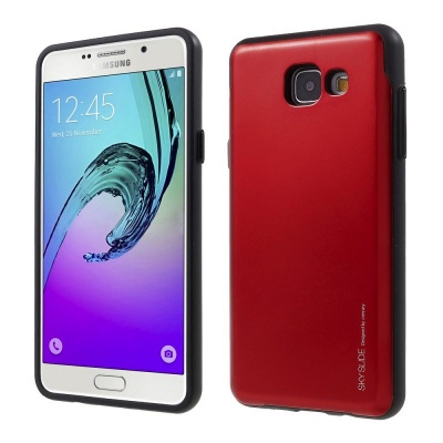Samsung Galaxy A5(2016) Sky Slide Bumper Case Red
