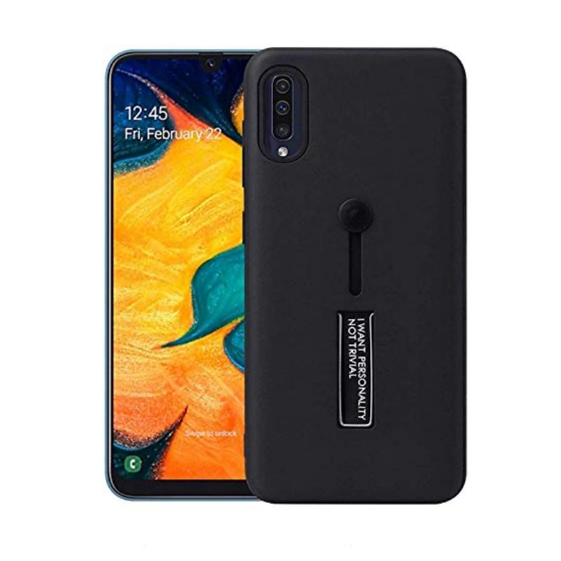 Samsung Galaxy A71 Kickstand Shockproof Cover Black