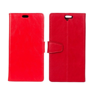 HTC One A9 PU Leather Wallet Case Red