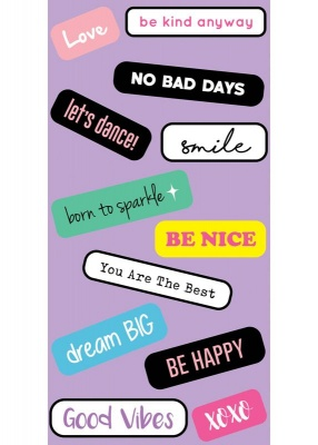 Happy Sticker Tags | IDecoz