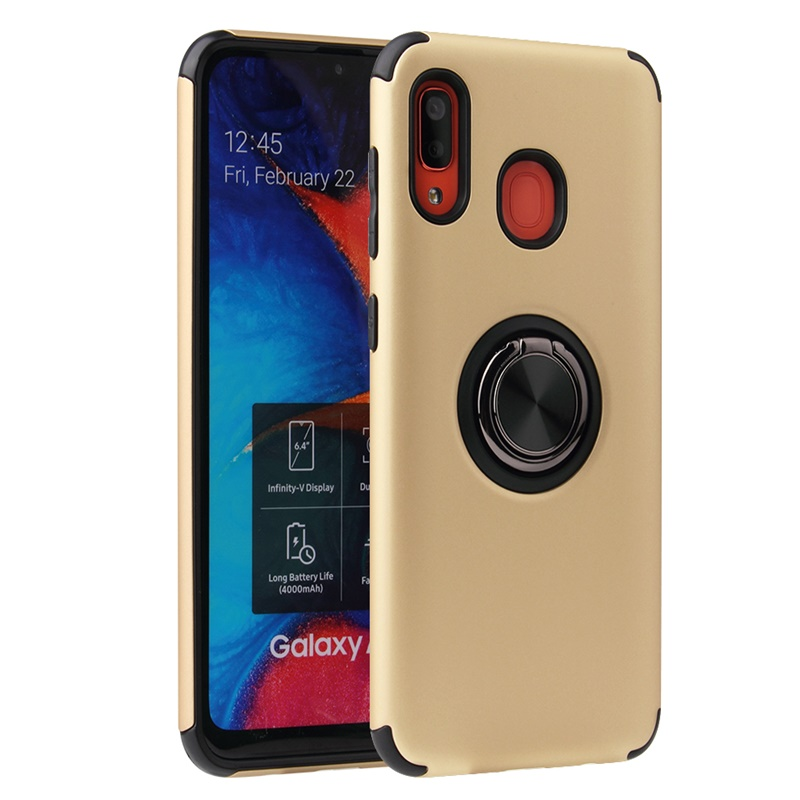 Huawei P30 Lite Case Magnetic Ring Holder Cover Gold