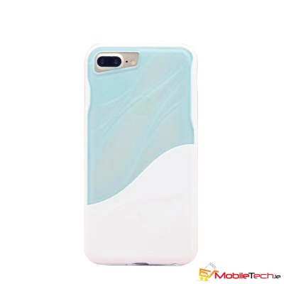 iPhone 7 / iPhone 8 Case Water Ripple Clear Cover Blue