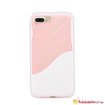iPhone 7 / iPhone 8 Case Water Ripple Clear Cover  Pink