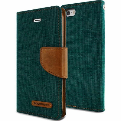 iPhone SE/5S/5 Canvas Wallet Case  Green