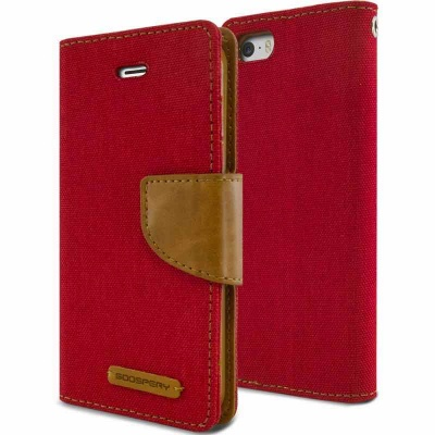 iPhone SE/5S/5 Canvas Wallet Case  Red