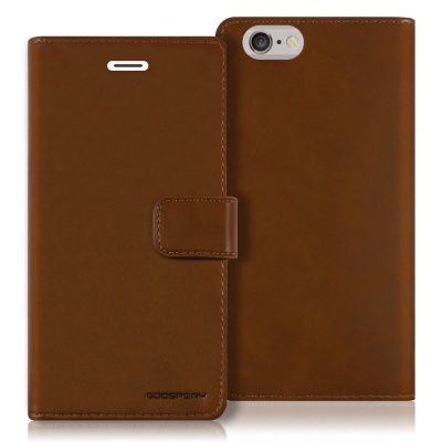iPhone 6/6s Plus Bluemoon Wallet Case Brown