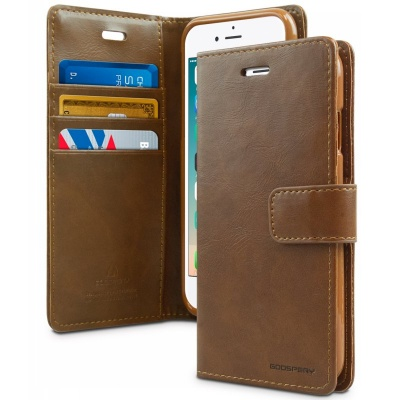 iPhone 7 / iPhone 8 Case Bluemoon Wallet- Brown