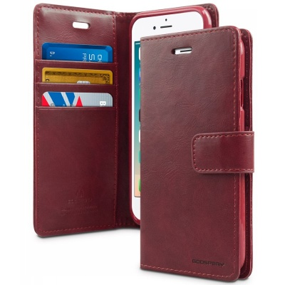iPhone 7 / iPhone 8 Case Bluemoon Wallet- WineRed