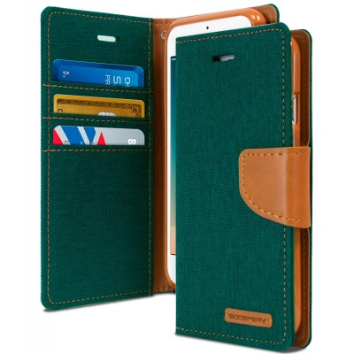 iPhone 6/6s Canvas Wallet Case  Green