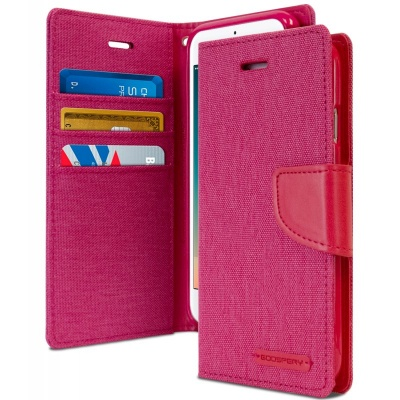 iPhone SE(2nd Gen) and iPhone 7/8 Case Goospery Canvas Diary- Pink