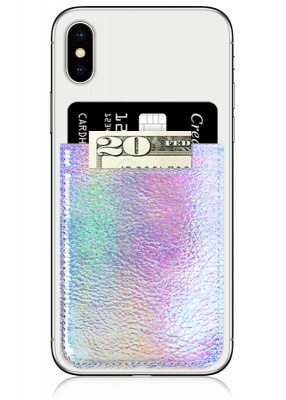 Iridescent Leather Phone Pocket | iDecoz