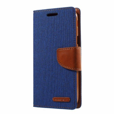 Samsung Galaxy J3(2017)  Canvas Wallet Case  Blue