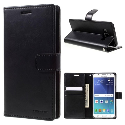Samsung Galaxy J5(2016) Bluemoon Wallet Case Black