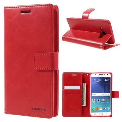 Samsung Galaxy J5(2016) Bluemoon Wallet Case Red